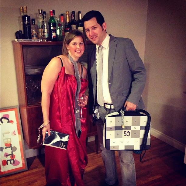 DreamHost Halloween party was epic. Lacey and I were 50 Shades of Gray!