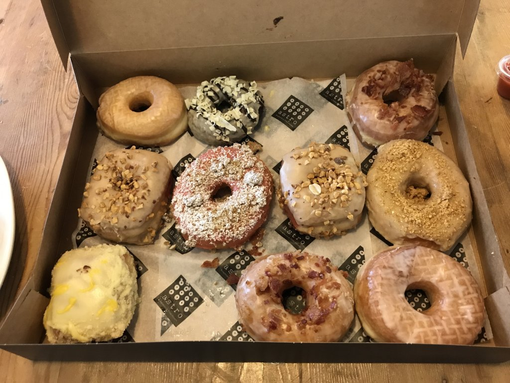 One dozen assorted doughnuts from Astro