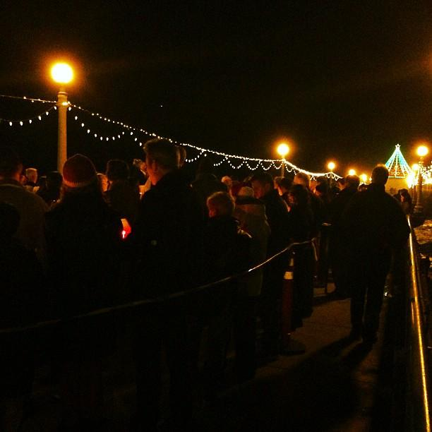 Christmas Eve on Manhattan Beach Pier with Oceanside Christian Fellowship.
