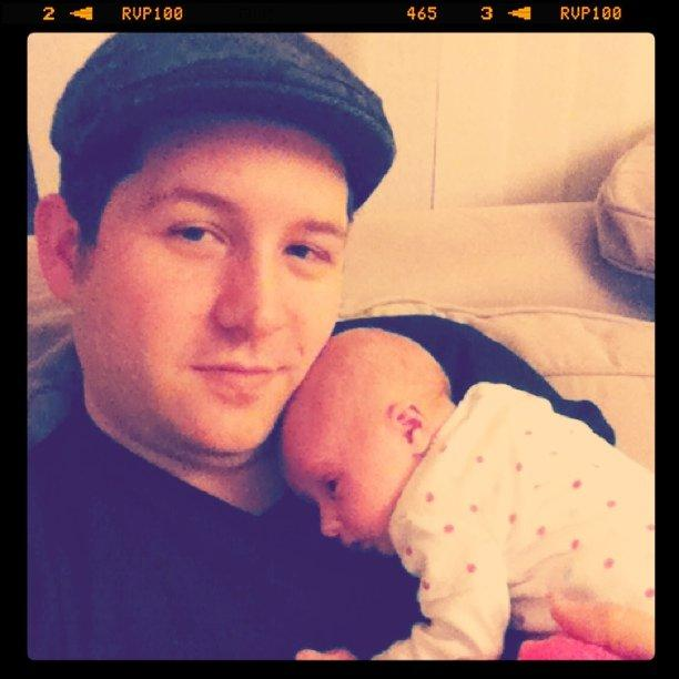 Watching Jeopardy with my little girl.
