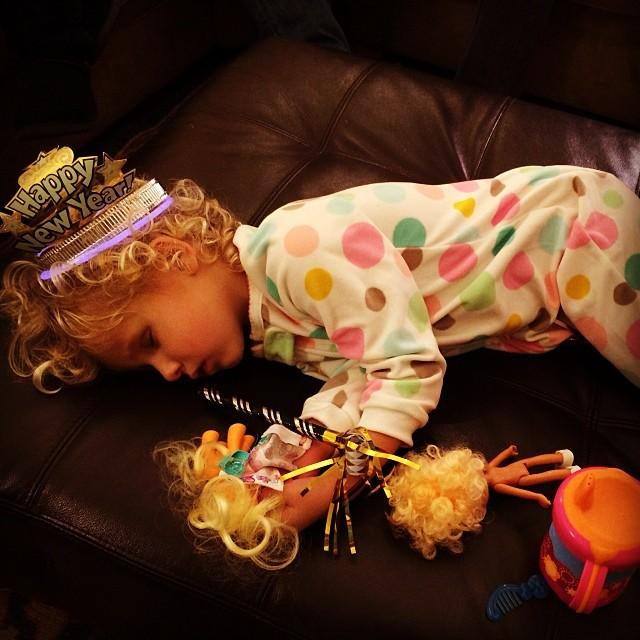 Happy New Year, toddler style.