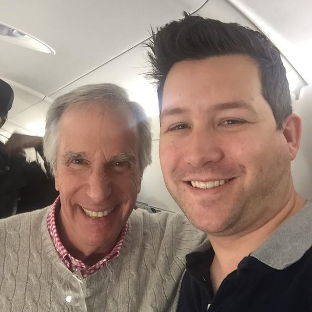 Just me and The Fonz. No biggie.