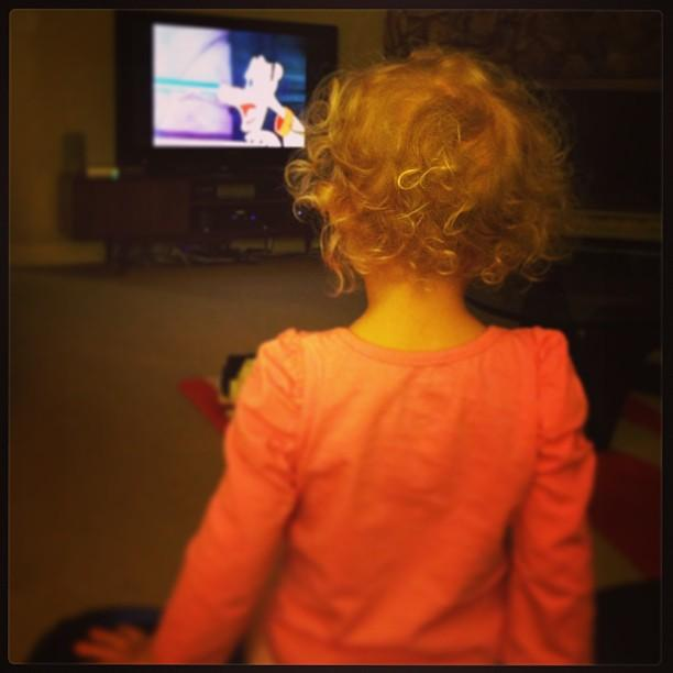 Curls and cartoons.