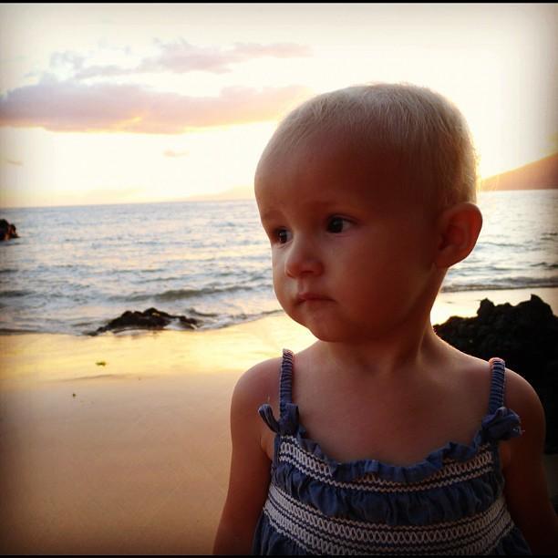 Colette at sunset.