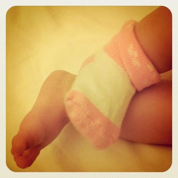 Bedtime feet.