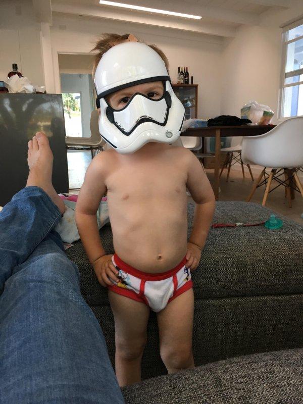 He's a little short for a Storm Trooper