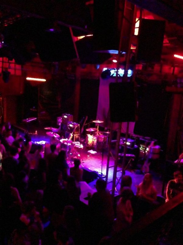 VIP area at The Troubadour for Royal Teeth! Thanks, pregnant wife :)
