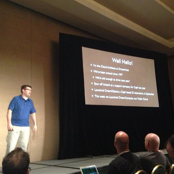 Carl Perry (@edolnx) talks about #dreamcompute at #openstack.