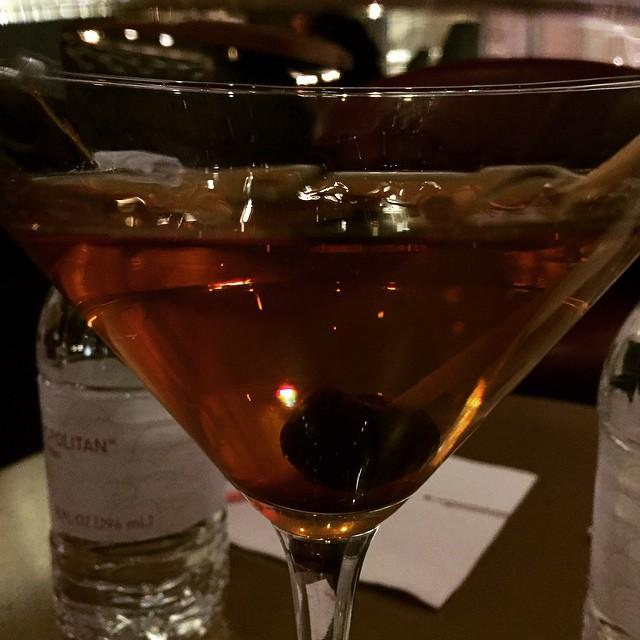 Extra dry Basil Hayden Manhattan. Up.