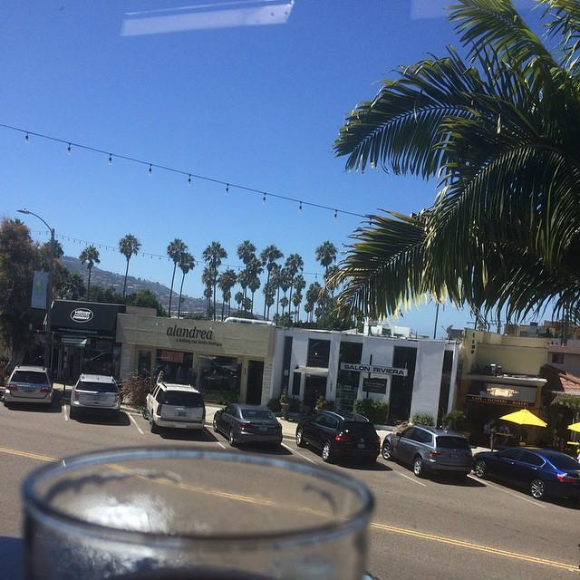 Lunch in the Riviera. Love the new neighborhood :)