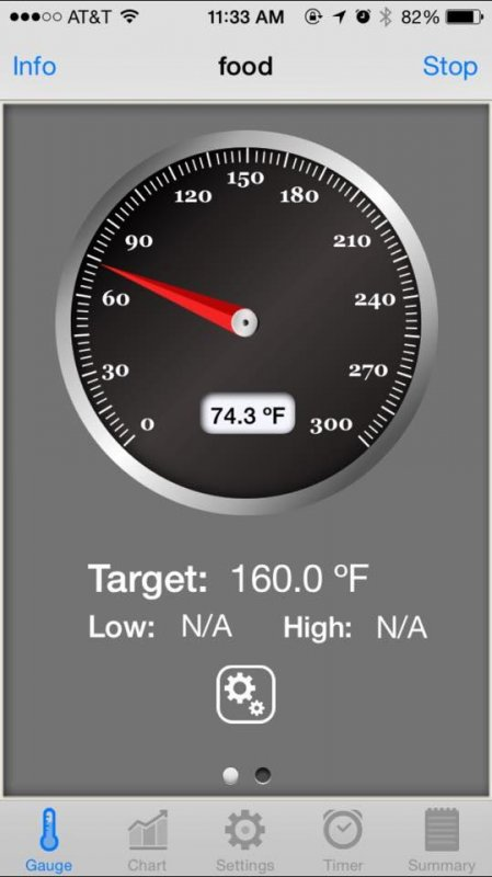First test of the new BBQ controller today. Monitoring and controlling my Big Green Egg smoking a brisket via my iPhone. Badass.