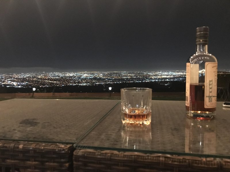Drinks with a view last night