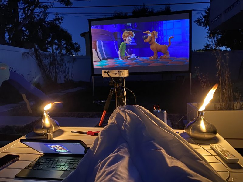Movie night under the stars ✨