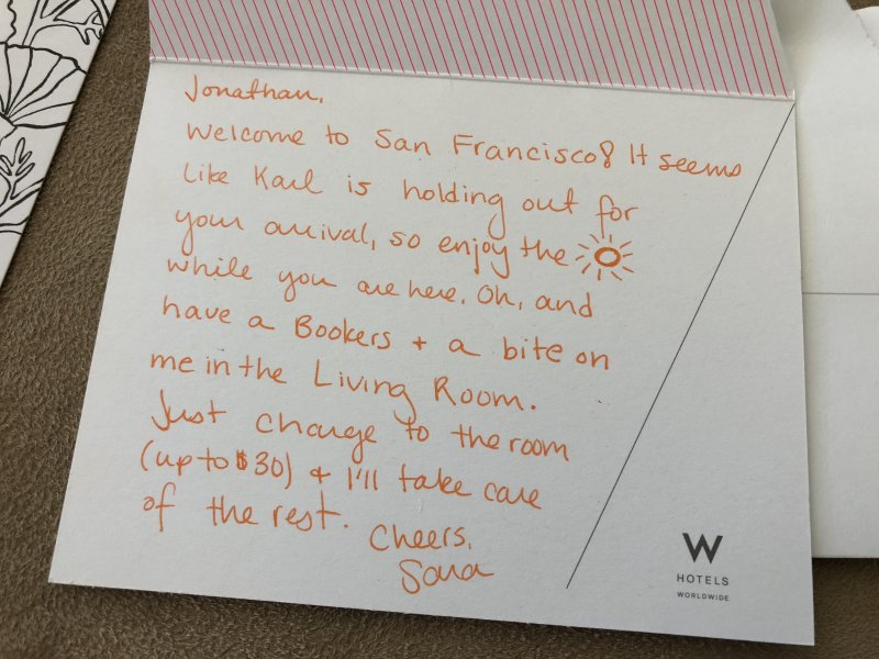 Thanks to W Insider Sara at The W San Francisco ❤️