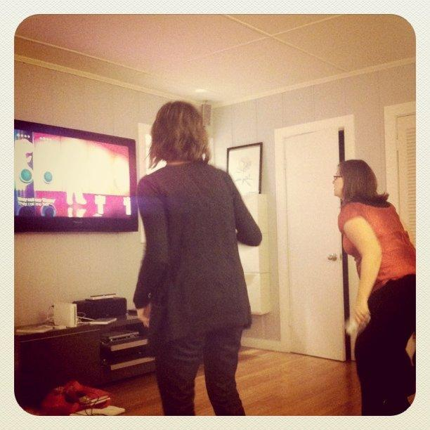 Dancing in the New Year.