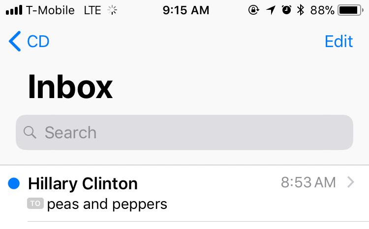 But, her emails