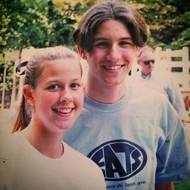 Handsome couple, circa 1997.