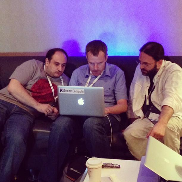 Some of the brains behind @DreamHost's #DreamCompute hard at work.