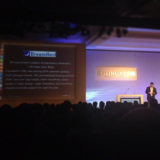 Some @DreamHost love from @kylemacdonald of @Canonical during his #CloudOpen keynote.