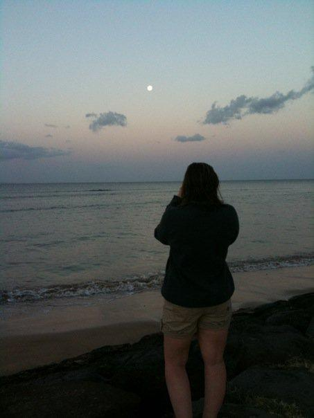 Good morning, moon.