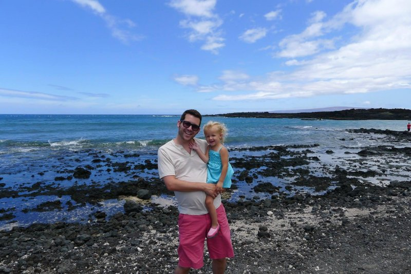 One year ago, with my little girl in Hawaii. We head back to Maui tonight! #TBT
