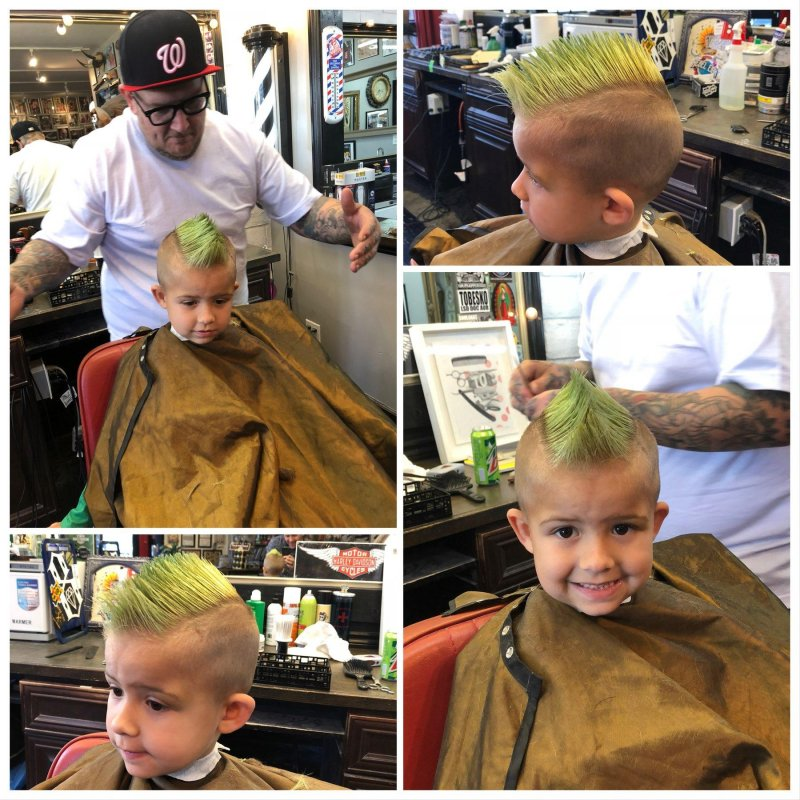 William's green mohawk