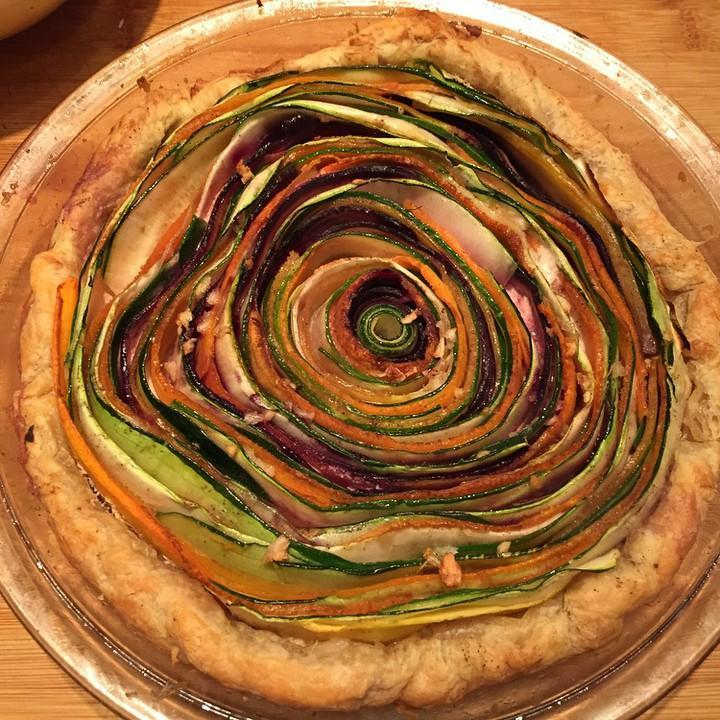 Vegetable tart.