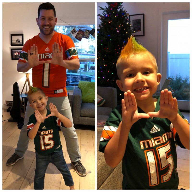 Go 'Canes! Beat Wisconsin! 🍊🍲🙌🏻