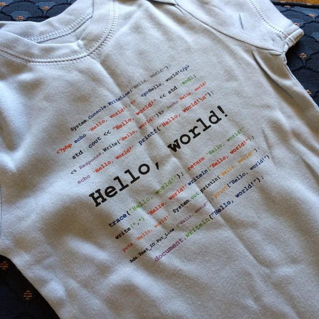 Awesome onesie for my little nerd William, from @rachellacour and @andrewniesen. Thanks guys!