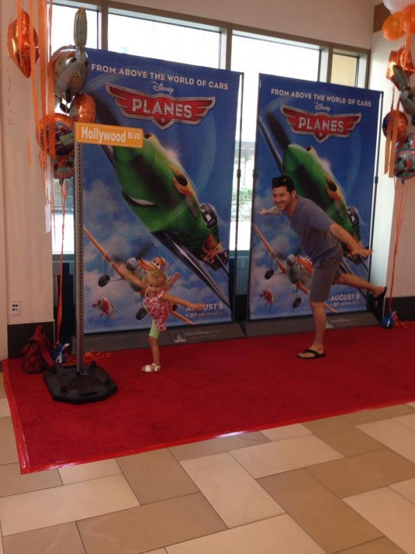 On the red carpet for Planes, from Disney!