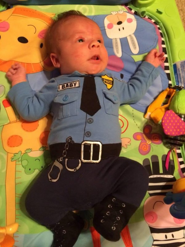 Officer W. J. LaCour, reporting for doodie.